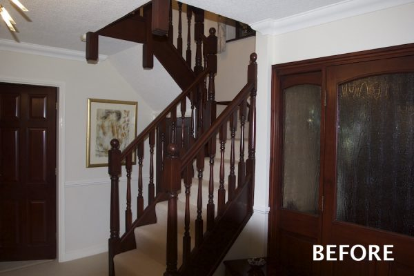 Oak and glass staircase transformation in Burbage